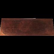 Copper The Duke of Wellingtons Regiment Plate