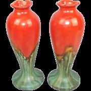 Circa 1920 Belgian Thulin Art Deco Vase Pair