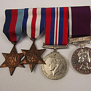 WW2 Medal Group Of Four Including QE2 LSGC Medal