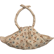 Circa 1850 Staffordshire Porcelain Cloth Effect Basket