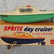 Boxed Vintage Sutcliffe Sprite Day Cruiser Clockwork Boat