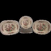 1857 Minton Indian Tree Pattern 10 Piece Ceramic Dish Set