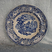 Circa 1820 Harveys Cities And Town Series Greenwich Pattern Soup Plate