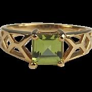 9ct Yellow Gold Peridot Ring UK Size N+ US 7