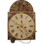 Antique Britannia Long Cased Grandfather Clock Dial Face