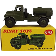 Dinky Toys 643 Army Water Tank 1958-61