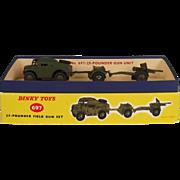 Dinky Toys 697 25-Pounder Field Gun Set 1957-71