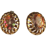 Pair Of 9ct Yellow Gold Topaz Earrings
