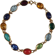 9ct Yellow Gold Multi Stone Bracelet