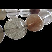 Vintage Rutilated Rock Quartz Necklace