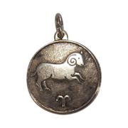 SALE Aries Zodiac Sterling Silver Charm