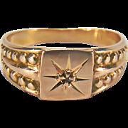 SALE Victorian Diamond Baby 14K Yellow Gold Ring