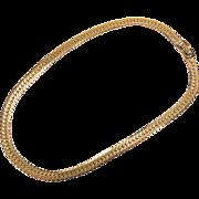 SALE Vintage Monet Herringbone Style Yellow Gold Toned Chain