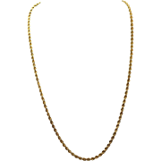 Estate Yellow Gold Braid Necklace
