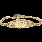 Vintage Estate Gold ID Style Bracelet