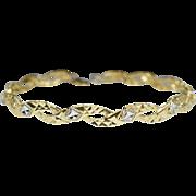 Estate Yellow & White Gold Twist Braid Bracelet