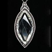 Vintage Lab Created Glass Pendant
