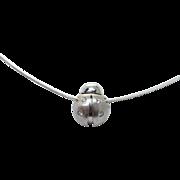 Vintage Ladybug Pendant Necklace in 14k White Gold