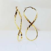14k Yellow Gold Figure 8 Earrings