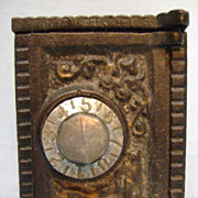 Vintage Cast Iron Safe Bank