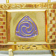 Vintage Gypsy Tour 1950 Belt Buckle