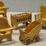 Vintage Cast Iron Kilgore Doll Furniture