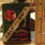 Vintage Sample and Half Tobacco Tin