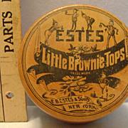 Vintage Little Brownie Tops in Wood Box