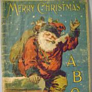 Vintage Mc Loughlin Linen A B C Santa Book