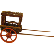 Vintage Moss and Twig Cart