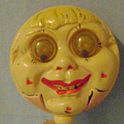 Vintage Celluloid Googly Eyed Childs Rattle