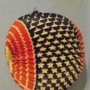 Vintage Patriotic Paper Lantern