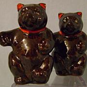 SOLD Vintage Teddy Bear Salt and Pepper Shakers