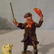 Vintage Metal Shepherd and Ten Sheep