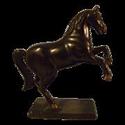 Vintage Cast Iron Horse Bank