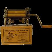 Vintage Wolverine Toy Wringer with Original Box