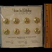 Diane Von Furstenberg City Lights Rhinestone Button Covers