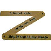 Vintage Celluloid Libby's Food Products Folding Ruler
