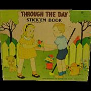 Vintage Through the Day Stick'em Book