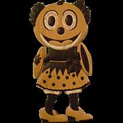 Vintage Halloween Pumpkin Head Lady