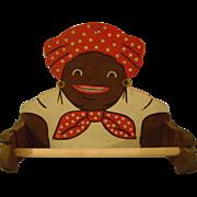 Black Aunt Jemina Type Wood Kitchen Holder