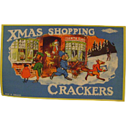 """Xmas"" Shopping for Batger's Crackers Paper Label"