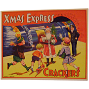 Vintage Christmas Crackers Paper Label