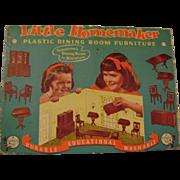 Vintage Little Homemaker Dining Room Plastic Dollhouse Furniture