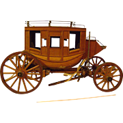 Stagecoach Model from Teak Wood from USS Missouri