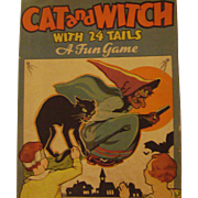 Vintage Cat and Witch Game