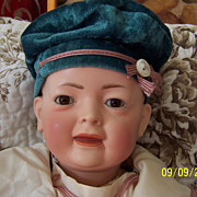 "German 15"" K&H Baby Doll on Bent Limb Compo Body"