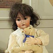 "Simon Halbig K*R 27"" Antique Bisque Head Doll"