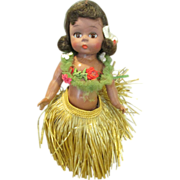Rare 1966 Madame Alexander Wendy Doll In Hula Skirt and Lei