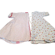 Two Vintage Flannel Doll Robes for your Dye-Dee, Tiny Tears or Baby Doll
